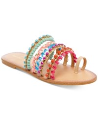 Madden Girl Krreed Embellished Slide Sandals Women's Shoes Nude Multi