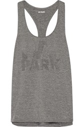 Ivy Park Laser Cut Stretch Jersey Tank Anthracite