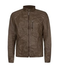 Ralph Lauren Black Label Unlined Leather Jacket Cognac