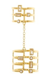 Elizabeth And James 24K Gold Plated Sol Knuckle Ring Metallic