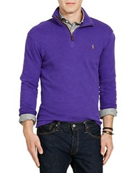 Polo Ralph Lauren Heathered Ribbed Cotton Pullover Morgan Purple