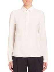 Akris Punto Pleated Back Blouse Cream