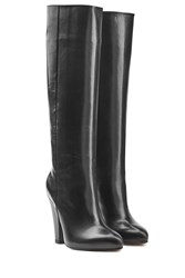 Sonia Rykiel Leather Knee Boots Black