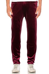 Homme Boy Straight Training Pant Burgundy