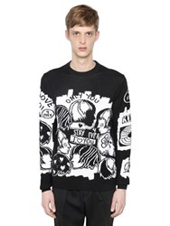 Kenzo 4 Ever Wool And Cotton Jacquard Sweater