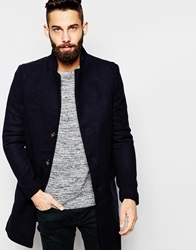 Only And Sons Wool Overcoat Navy
