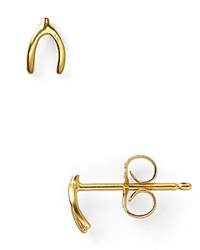 Dogeared Wishbone Stud Earrings Gold
