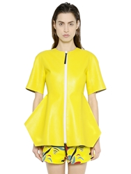 Marni Nappa Leather Jacket Yellow