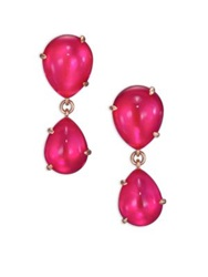 Pomellato Rouge Passion Mirrored Teardrop Earrings Rose Gold