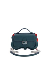 Fendi Baguette Micro Wavy Double Sided Bicolor Bag Dark Green