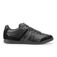 Hugo Boss Boss Green Men's Aki Leather Suede Trainers Black