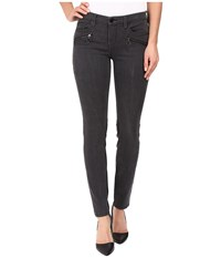 Blank Nyc Grey And Vegan Leather Detailed Bottom In Drag It Out Drag It Out Women's Jeans Black