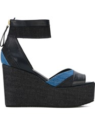 Pierre Hardy Denim Detail Sandals Blue