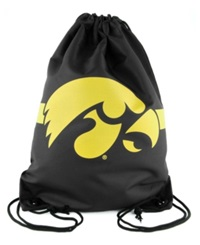 Forever Collectibles Iowa Hawkeyes Team Stripe Drawstring Bag Black