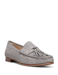 Sam Edelman Therese Suede Tassel Moccasins Grey