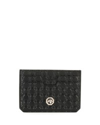 Stefano Ricci Stamped Leather Card Case Black