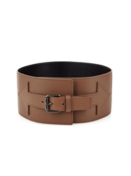 Tomas Maier Arrow Wide Leather Waist Belt