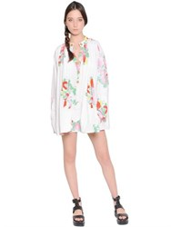 Yvonne S Floral Printed Cotton Shirt Dress