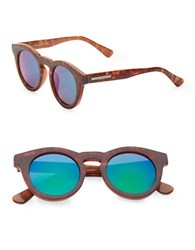 Vince Camuto 50Mm Round Plastic Sunglasses Brown