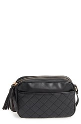 Emperia Quilted Camera Faux Leather Crossbody Bag