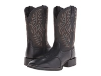 Ariat Sport Western Wide Square Toe Black Deertan Black Cowboy Boots