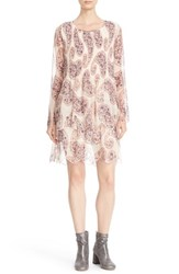 See By Chloe Women's Floral Paisley Print Dress Winter White