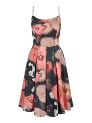 Yumi Floral Printed Prom Dress Multi Coloured