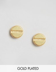 Pieces And Julie Sandlau Gold Plated Jue Stud Earrings Gold
