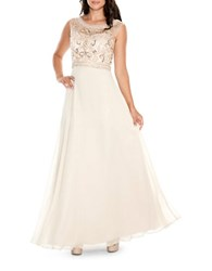 Decode 1.8 Embellished Bodice Gown Blush