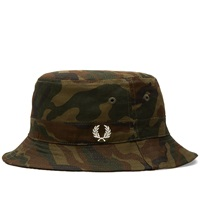 Fred Perry Ripstop Reversible Bucket Hat Camo And Black
