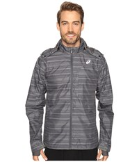 Asics Storm Shelter Jacket Iron Gate Men's Coat Gray