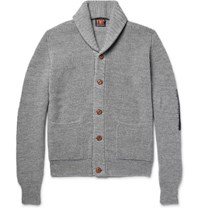 The Workers Club Worker Hawl Collar Merino Wool Cardigan Gray