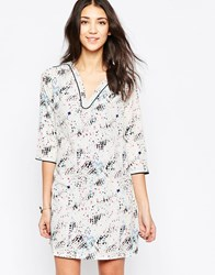 See U Soon Printed Shift Dress With Pockets Gray