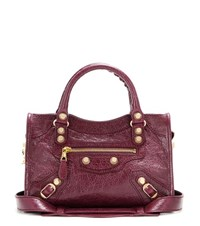 Balenciaga Giant 12 Mini City Leather Tote Purple
