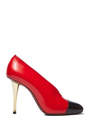 Lanvin Bi Colour Stiletto Heeled Pumps Red