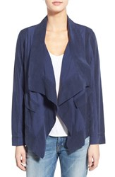 Women's Splendid 'Canyondale' Drape Front Mixed Media Jacket