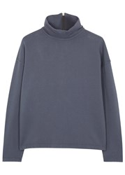 Blood Brother Seismo Funnel Neck Cotton Sweatshirt Navy