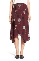 Women's Hinge Asymmetrical Midi Skirt