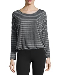 Eberjey Ticking Stripes Slouchy Tee Thunderstorm