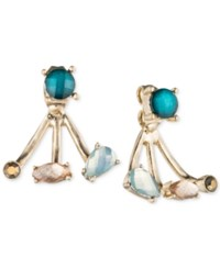 Lonna And Lilly Gold Tone Blue Stud Earring Jackets