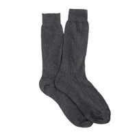 J.Crew Ribbed Cotton Dress Socks Hthr Charcoal