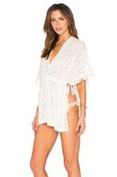 L Space Washed Ashore Poncho Cream