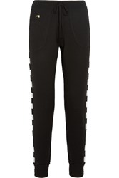 Bella Freud Greco Merino Wool Blend Track Pants Black