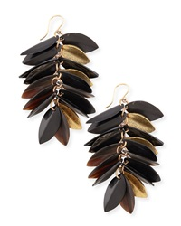 Ashley Pittman Tanzu Dark Horn And Leaf Earrings