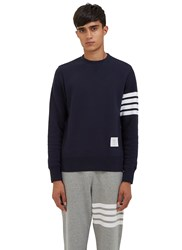 Thom Browne 4 Bar Crew Neck Sweater Navy