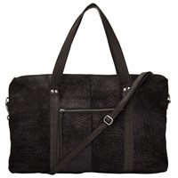Pieces Paula Suede And Leather Travel Bag Black