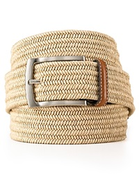 The Men's Store At Bloomingdale's Stretch Braided Belt Khaki