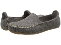 Haflinger Moccasin Grey Slippers Gray