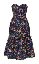 Saloni Alara Floral Dress Navy