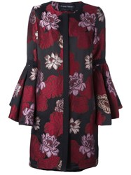 Christian Pellizzari Ruched Embroidered Floral Cape
